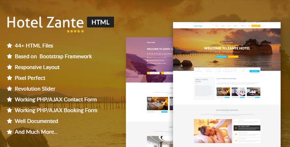 Download Hotel Zante - Hotel & Resort HTML Template Amp Html Templates