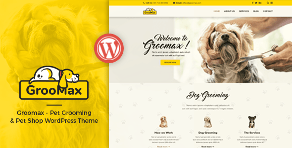 Download Groomax - Pet Grooming & Shop WordPress Theme Shop WordPress Themes