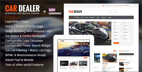 Download Car Dealer Automotive WordPress Theme – Responsive Automotive WordPress Themes