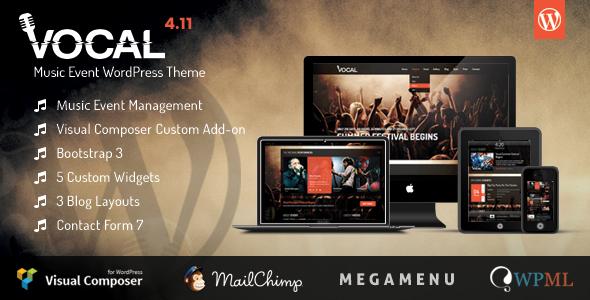 Download Vocal - Music Event WordPress Theme Event WordPress Themes