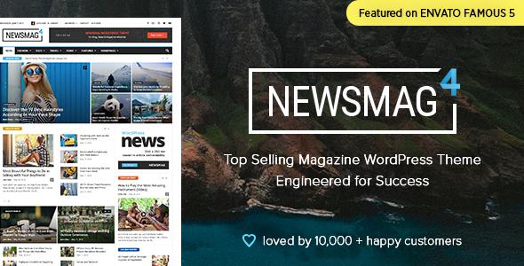 Download Newsmag - News Magazine Newspaper Youtube WordPress Themes