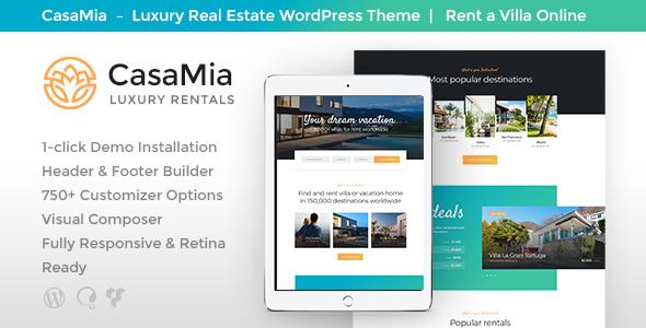Download CasaMia   Property Rental WordPress Theme Property WordPress Themes