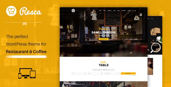 Download WordPress Restaurant Theme - Resca Joomla WordPress Themes