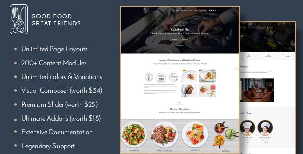 Download Ratatouille - Restaurant WordPress Theme Restaurant Wordrpess Themes