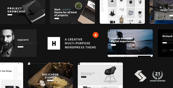 Download Heli - Creative Multi-Purpose WordPress Theme Black WordPress Themes