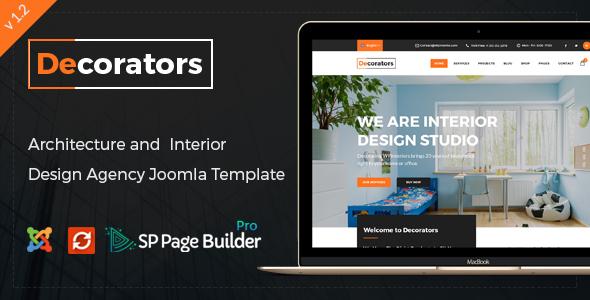 Download Decorators - Joomla Template for Architecture & Modern Interior Design Studio Modern Joomla Templates