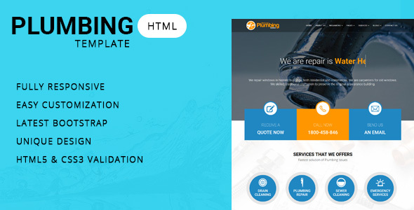 Download Plumber - Company HTML Template Company Html Templates