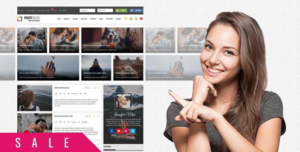 Download Posti - Responsive Blog HTML Template Blog Html Templates