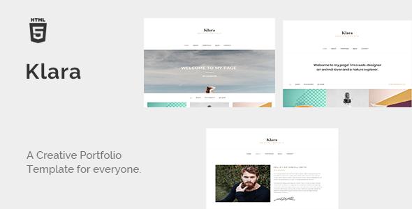 Download Klara - Minimal Creative Portfolio Architecture Blogger Templates