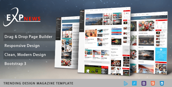 Download Sj ExpNews - Clean Drag & Drop News Portal Joomla Template Newspaper Joomla Templates