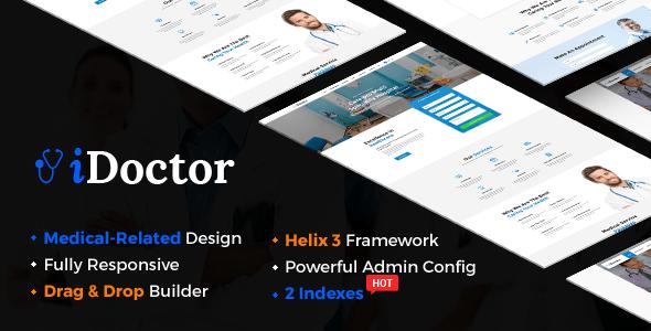 Download iDoctor - Responsive & Multipurpose Medical Joomla Template With Page Builder Hospital Joomla Templates