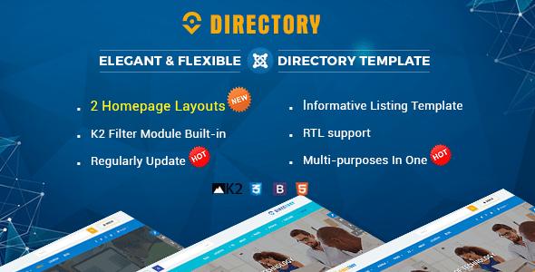 Download Directory - Responsive Ultimate Directory Joomla Template University Joomla Templates