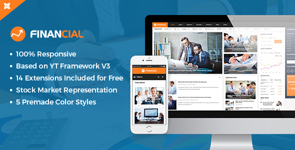 Download Financial III - Responsive Business and Financial Joomla Template Magazine Joomla Templates