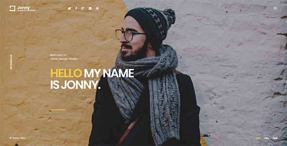 Download Jonny - One Page HTML Template Onepage Blogger Templates