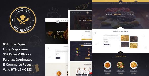 Download La Boom - Food & Restaurant Bistro HTML Template Amp Html Templates