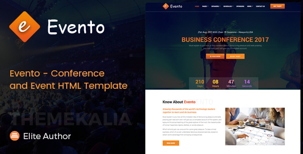 Download Evento - Conference and Event HTML Template Event Html Templates