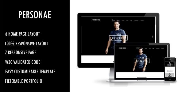 Download Personae - Personal Portfolio HTML Template Portfolio Html Templates