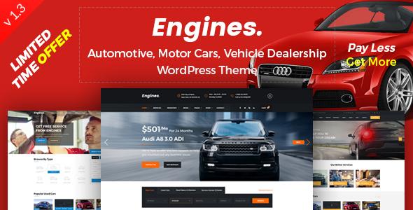 Download Engines - Automotive, Car Dealer, Vehicle, Dealership, Classifieds WordPress Theme Automotive WordPress Themes