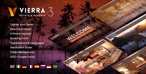 Download Hotel Wordpress Theme   Vierra Hotel WordPress Themes
