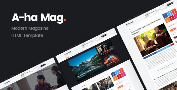 Download AhaMag | Modern Magazine HTML Template Fast Load Html Templates