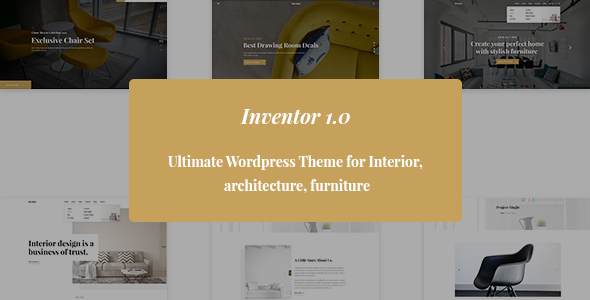 Download Inventor- Architechture and Furniture Interior HTML5 Template Furniture Html Templates