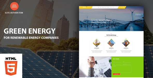 Download Green Energy - For Renewable Energy Company HTML Template Green Html Templates