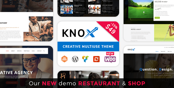 Download Knox | Multi-Business Modern WordPress Theme Modern WordPress Themes