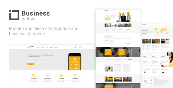 Download Yellow Business - Construction And Businesses Yellow Html Templates