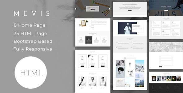 Download Mevis — Corporate, Portfolio, Photography and Blog template Black Html Templates