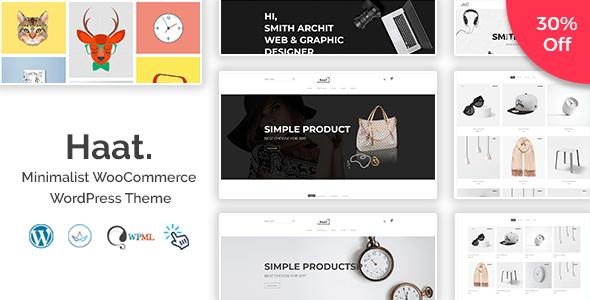 Download Haat - Minimalist WooCommerce WordPress Theme Minimalist WordPress Themes