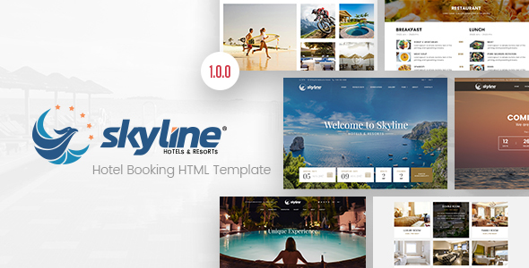 Download SkyLine - Hotel Booking HTML Template Hotel Html Templates