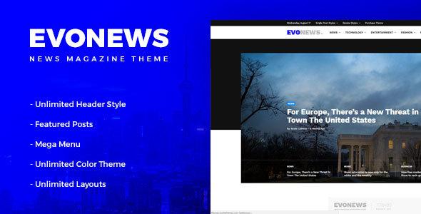 Download Evonews - News/Magazine WordPress Theme Youtube WordPress Themes