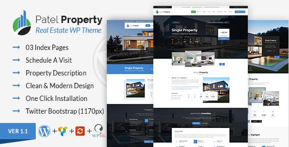 Download Patel - Single Property Real Estate WordPress Theme Property WordPress Themes
