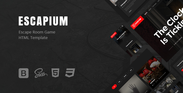 Download Escapium - Escape Room Game HTML Template Game Html Templates