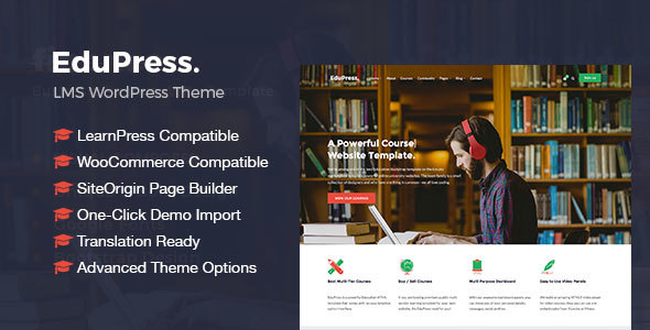 Download EduPress | Responsive LMS, University Education WordPress Theme University WordPress Themes