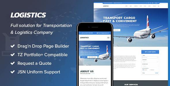 Download Logistics - Transportation & Logistics Joomla Template Amp Joomla Templates