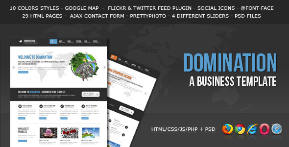 Download Domination - a Business HTML Template Business Html Templates