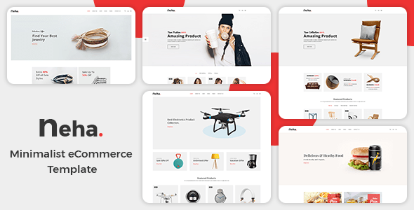 Download Neha - Minimalist eCommerce  Template Ecommerce Joomla Templates