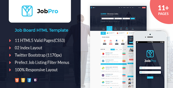 Download Job Pro - Job Board HTML Template Portal Html Templates