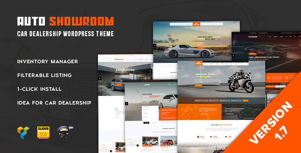Download Auto Showroom - Car Dealership WordPress Theme Car WordPress Themes