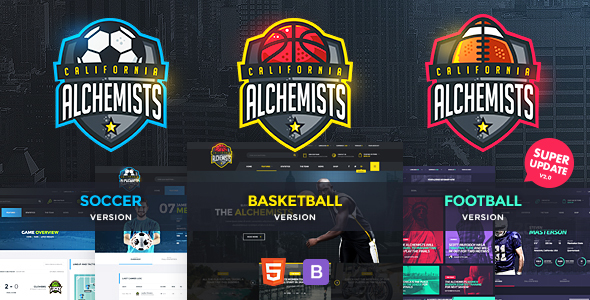 Download Alchemists - Basketball, Soccer, Football Sports Club and News HTML Template News Html Templates