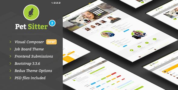 Download Pet Sitter - Job Board Responsive WordPress Theme Job WordPress Themes