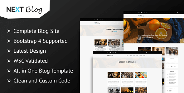 Download Next Blog - Blogging HTML Template Blog Html Templates