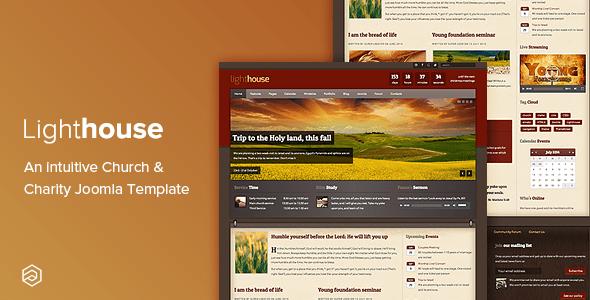 Download Lighthouse - Church Charity Responsive Joomla Template Church Joomla Templates