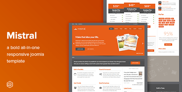 Download Mistral - Business Responsive Joomla Template Fast Load Joomla Templates