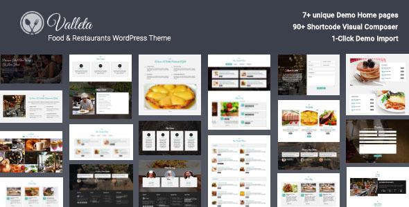 Download Valleta - Food & Restaurants WordPress Theme Restaurant Wordrpess Themes