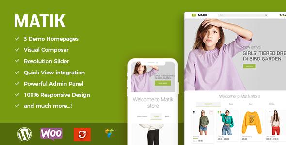 Download Matik - Minimalist WooCommerce WordPress Theme Minimalist WordPress Themes