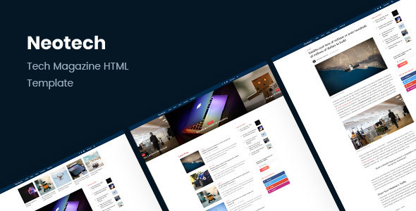 Download Neotech | Tech Magazine HTML Template Youtube Html Templates