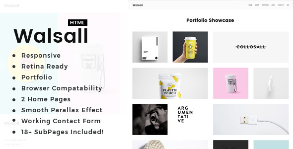 Download Walsall - Minimal Digital Agency HTML Template Simple Html Templates
