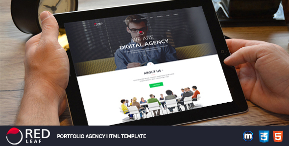 Download Red Leaf – Portfolio Agency HTML Template Red Html Templates